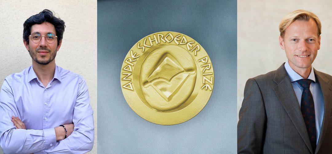 Benjamin Coyac et Michael Payer reçoivent le prix André Schroeder
